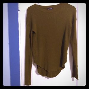 Express high low crewneck sweater